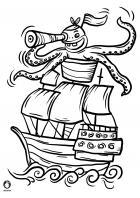 Omalovánky - pirátská loď