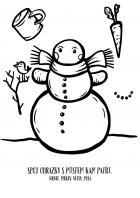 Vánoce - omalovánky - sněhulák