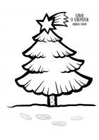Vánoce - omalovánky - vánoční stromek