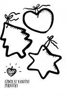 Vánoce - omalovánky - perníky