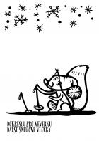 Vánoce - omalovánky - veverka