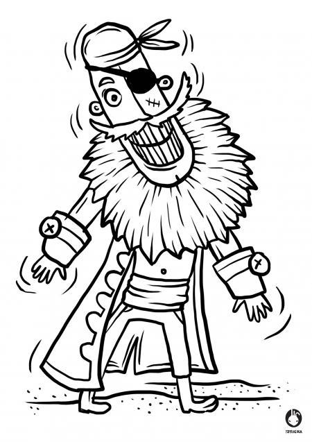 Omalovánky - pirát s jedním okem