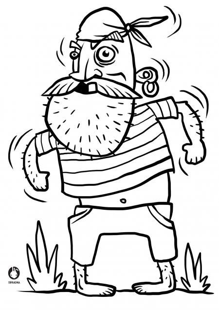 Omalovánky - fousatý pirát