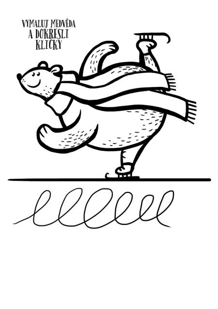 Vánoce - omalovánky - medvěd